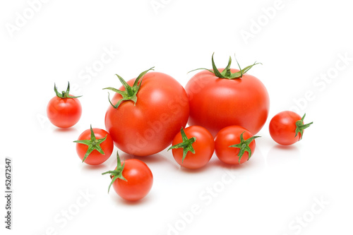 tomatoes on a white background close-up