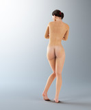 Naked young brunette