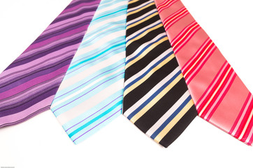 Ties with stripes