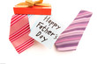 Happy Fathers Day tag with neckties