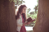 eastern hipster vintage woman reading book