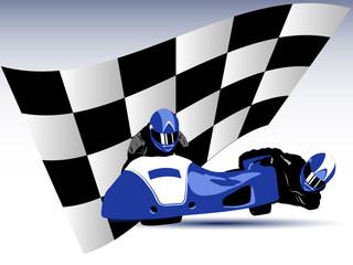 Blue sidecar