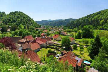 Oderen ,commune de la vallée de la Thur dans les Vosges