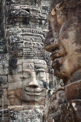 Faces of Bayon temple Cambodia