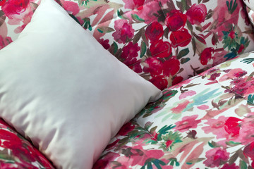 Coussin, canapé, motif, meuble, décoration, confort