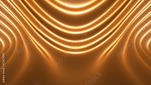 Soft Golden Abstract Looping Animated Background