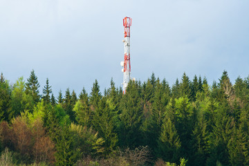 mast antenna in the country