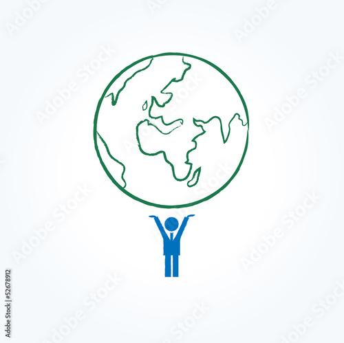 ビジネスマン 地球