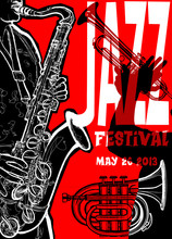 Cartel de Jazz con el saxofonista