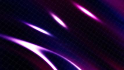 Wire Frame and Light Streaks Loop