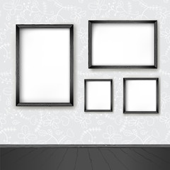 Vector interior wall and frame
