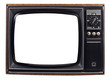 canvas print picture - The old TV on the isolated white background