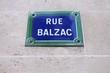 Paris street - Rue Balzac