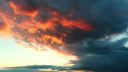 Red dramatic sky - time lapse