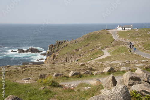 Last and first property at Land's End Cornwall UK