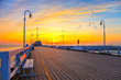 Sunrise at the Molo in Sopot, Poland. - 52683796