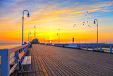 Sunrise at the Molo in Sopot, Poland.