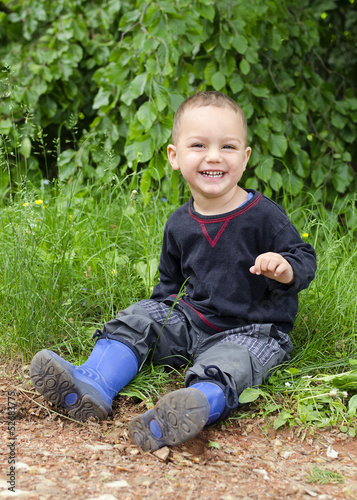 Happy child outdoors