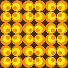 70er Retro Muster rund