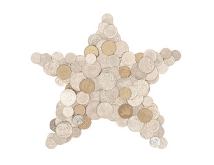 Money star - in Australian coins