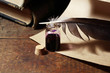 Inkpot And Quill Pen