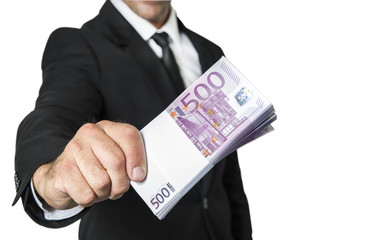 Business men with 500 Euro