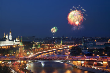 Firework in Moscow on Victory day in the great Patriotic war