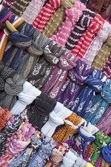 headcloths from market in Madrid