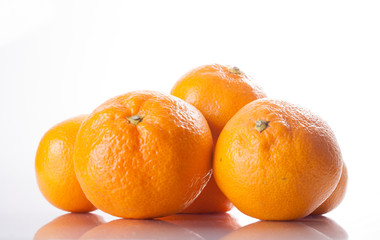 Citrus fruit. Tangerines on a white background.