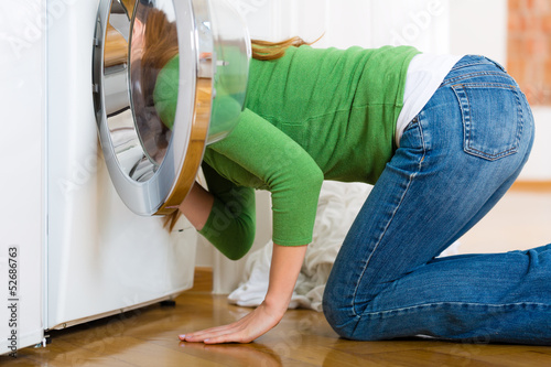 Housekeeper with washing machine
