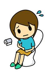 トイレで苦しむ女性