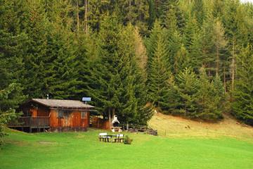 Hütte in der Einsamkeit