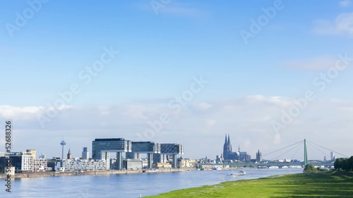 cologne germany skyline timelapse video