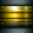 3D metallic background gold steel texture