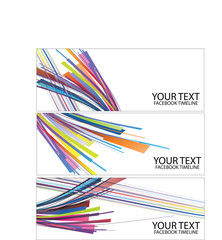 colorful way, facebook timeline,vector abstract background