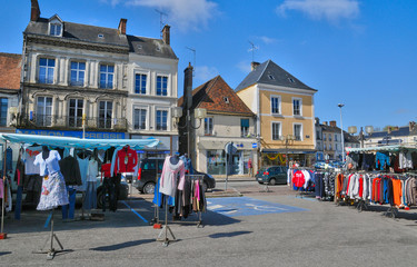 picturesque little town of Mortagne au Perche in Normandie