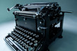 retro black typewriter