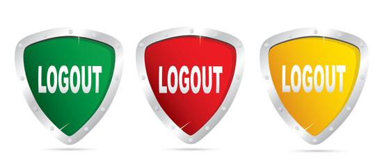 Logout icons.