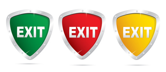Exit icons. Vector