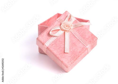 Rosa Geschenkbox mit Schleife