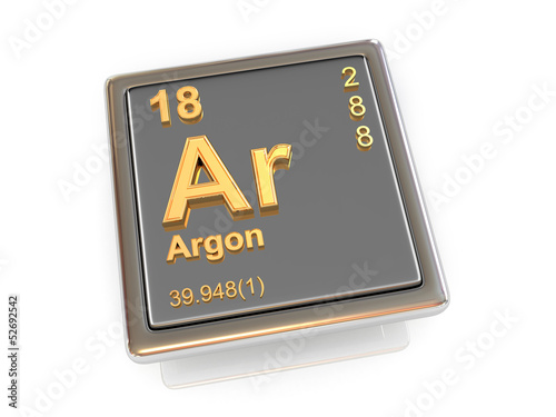 Argon. Chemical element.