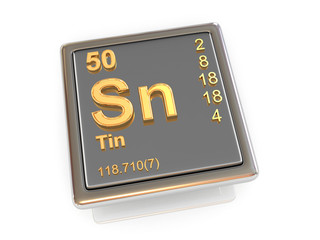 Tin. Chemical element.