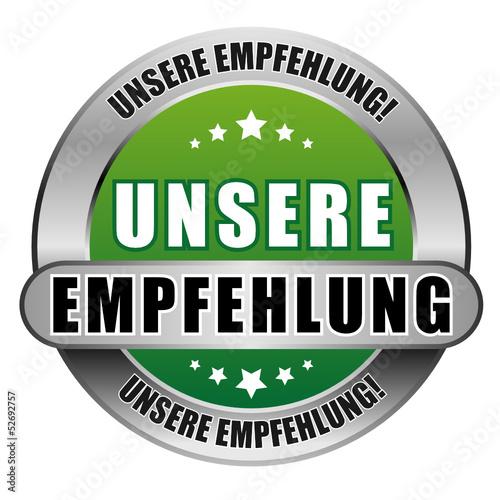 5 Star Button grün UNSERE EMPFEHLUNG UE UE