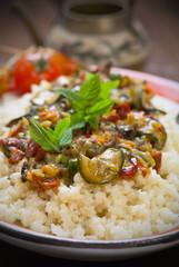Cous cous con verdure - Cous cous with vegetables