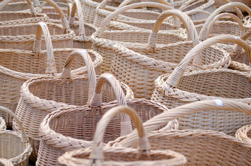 wicker handmade wooden diy basket  street market