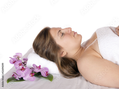 Day spa aroma therapy massage table