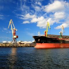 cargo port. Ventspils terminal, Latvia