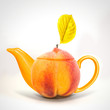 Concept peach teapot