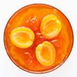 Золотистый, сахарный, медовый, вкусный, абрикосовый джем
