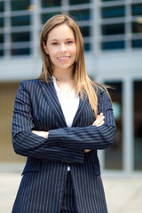 Young female executive in an urban setting
